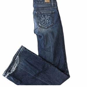 Paige Robertson Bootcut Distressed Blue Jeans W27